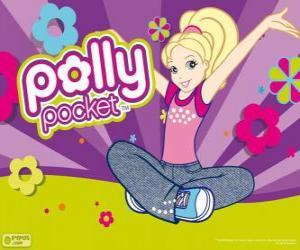 Puzzle Polly assis sur le plancher