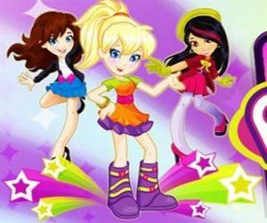 Puzzle Polly danser avec des amis