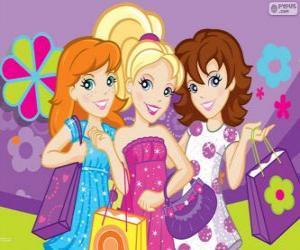 Puzzle Polly Pocket shopping avec ses amies