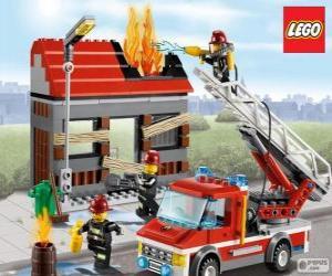 Puzzle Pompiers de Lego