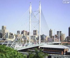 Puzzle Pont Nelson Mandela, Johannesburg, Afrique du Sud