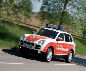 Puzzle Porsche Cayenne ambulance