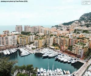 Puzzle Port de Fontvieille, Monaco
