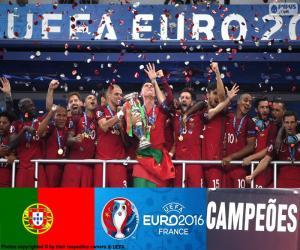 Puzzle Portugal, champion Euro 2016