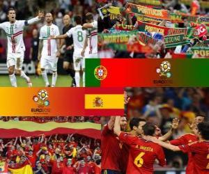 Puzzle Portugal - Espagne, demi-finales  Euro 2012