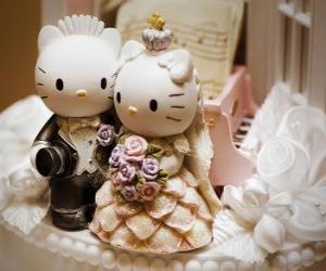 Puzzle Poupées de mariage Bonjour Kitty et Dear Daniel