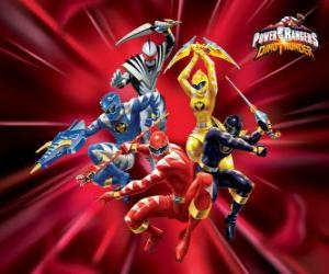 Puzzle Power Rangers : Dino Tonnerre