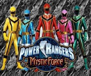 Puzzle Power Rangers : Force mystique