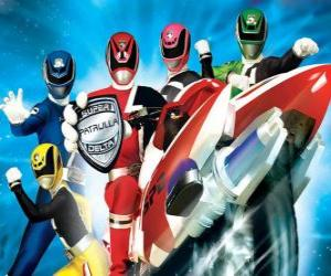 Puzzle Power Rangers SPD. Space Patrol Delta
