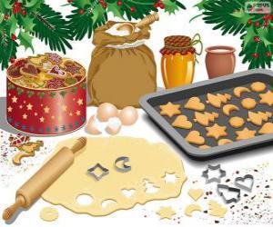 Puzzle Préparation de biscuits de Noël