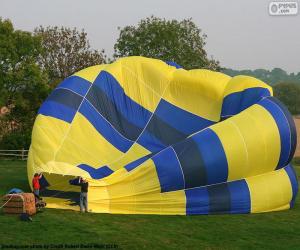 Puzzle Préparation de la montgolfière