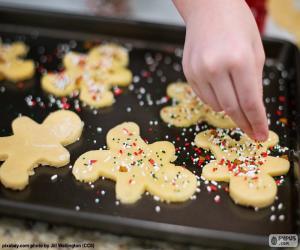 Puzzle Préparation des biscuits de Noël