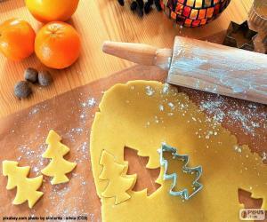 Puzzle Préparer des biscuits de Noël