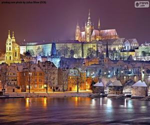 Puzzle Prague la nuit, République tchèque