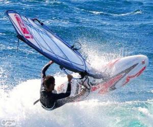 Puzzle Pratiquer la planche à voile ou windsurf