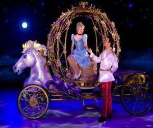 Puzzle Princess Prince aider sa voiture vers le bas