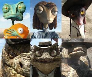 Puzzle principaux protagonistes le film Rango
