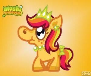 Puzzle Priscilla. Moshi Monsters. La princesse poney