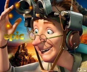 Puzzle Professeur Bomba, un scientifique excentrique