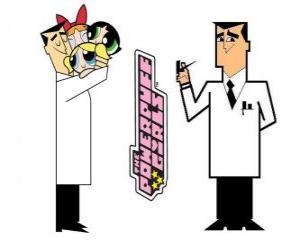 Puzzle Professeur Utonium est le créateur de Les Supers Nanas