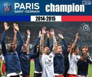 Puzzle PSG, champion 2014-2015