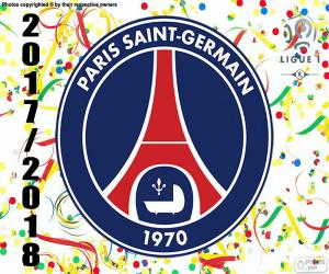 Puzzle PSG, champion Ligue 1 2017-2018
