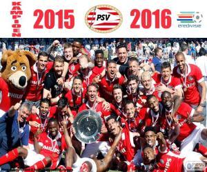 Puzzle PSV Eindhoven, champion 2015-2016