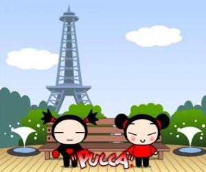 Puzzle Pucca et Garu à Paris