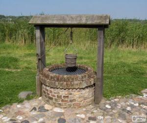 Puzzle Puits de l'eau de forme cylindrique en pierre