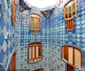 Puzzle Puits de lumière, Casa Batlló