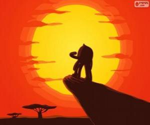 Puzzle Pypus au rocher du roi comme Simba, le Roi Lion