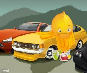 Puzzle Pypus avec quelques belles voitures