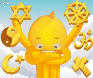 Puzzle Pypus et les religions