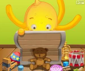 Puzzle Pypus et sa boîte de jouets
