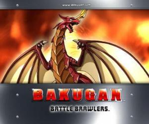 Puzzle Pyrus Drago est le gardien Bakugan de Dan