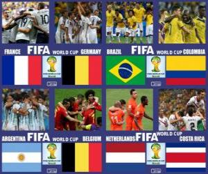 Puzzle Quarts de finale, Brésil 2014