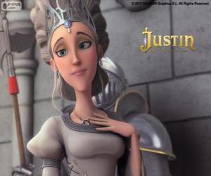 Puzzle Queen est le beau monarque du Royaume