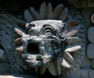 Puzzle Quetzalcoatl, le dieu aztèque de la vie, le serpent à plumes