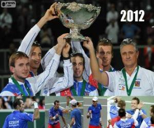 Puzzle République tchèque, champion de la Copa Davis 2012