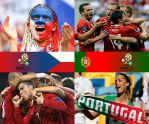 Puzzle République tchèque - Portugal, quart de finale, Euro 2012
