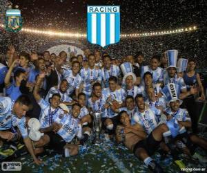 Puzzle Racing Club de Avellaneda, champion de la Torneo de Transición 2014 en Argentine