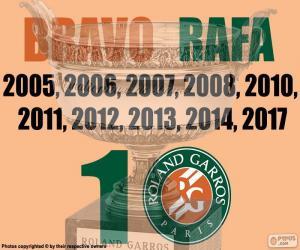 Puzzle Rafa Nadal, 10 Roland Garros