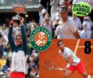 Puzzle Rafael Nadal champion Roland Garros 2013