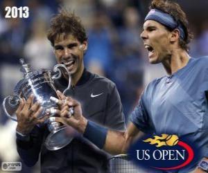 Puzzle Rafael Nadal champion US Open 2013