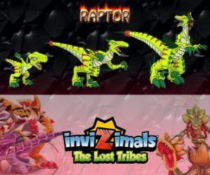 Puzzle Raptor, dernière évolution. Invizimals The Lost Tribes. Chasseur dangereux qui est rapide, intelligente, agressifs