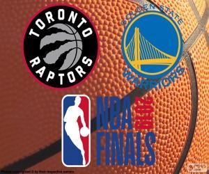 Puzzle Raptors-Warriors, finales NBA 2019