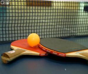 Puzzle Raquettes et balles de ping-pong