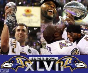 Puzzle Ravens de Baltimore Champions Super Bowl 2013