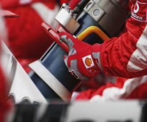 Puzzle Ravitaillement en F1