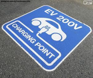 Puzzle Recharge les voitures électriques